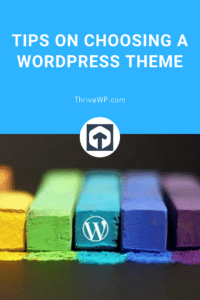 Choosing a WordPress Theme Pinterest Image