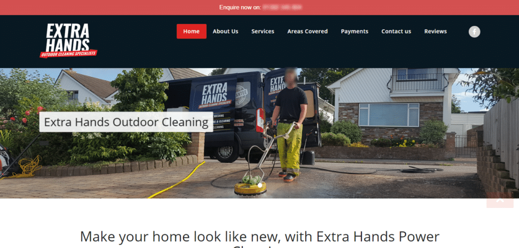 WordPress Maintenance Package UK Extra Hands Outdoor Cleaning