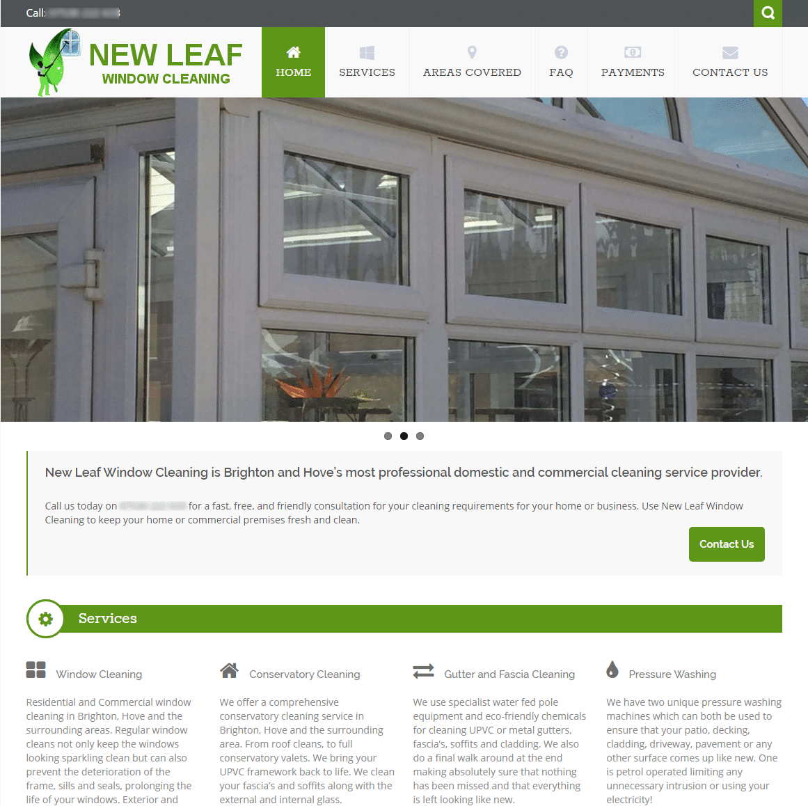Window Cleaning Website Design