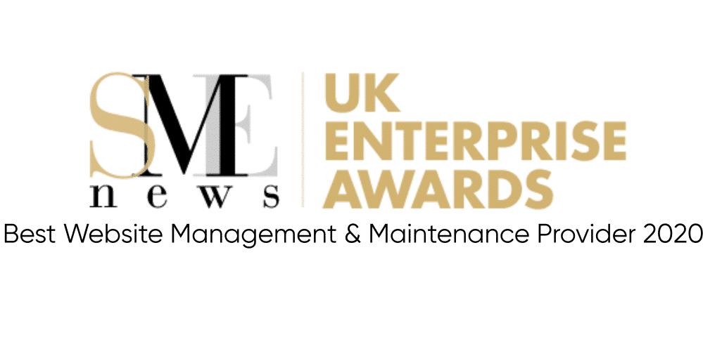 WordPress Maintenance Services UK Winner UK Enterprise Awards 2020