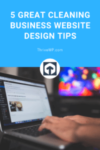 cleaning business website design tips