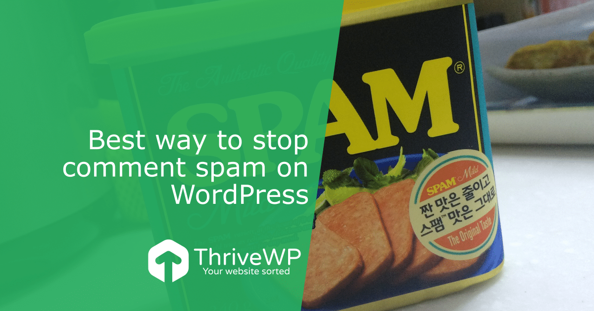 Best way to stop comment spam on WordPress