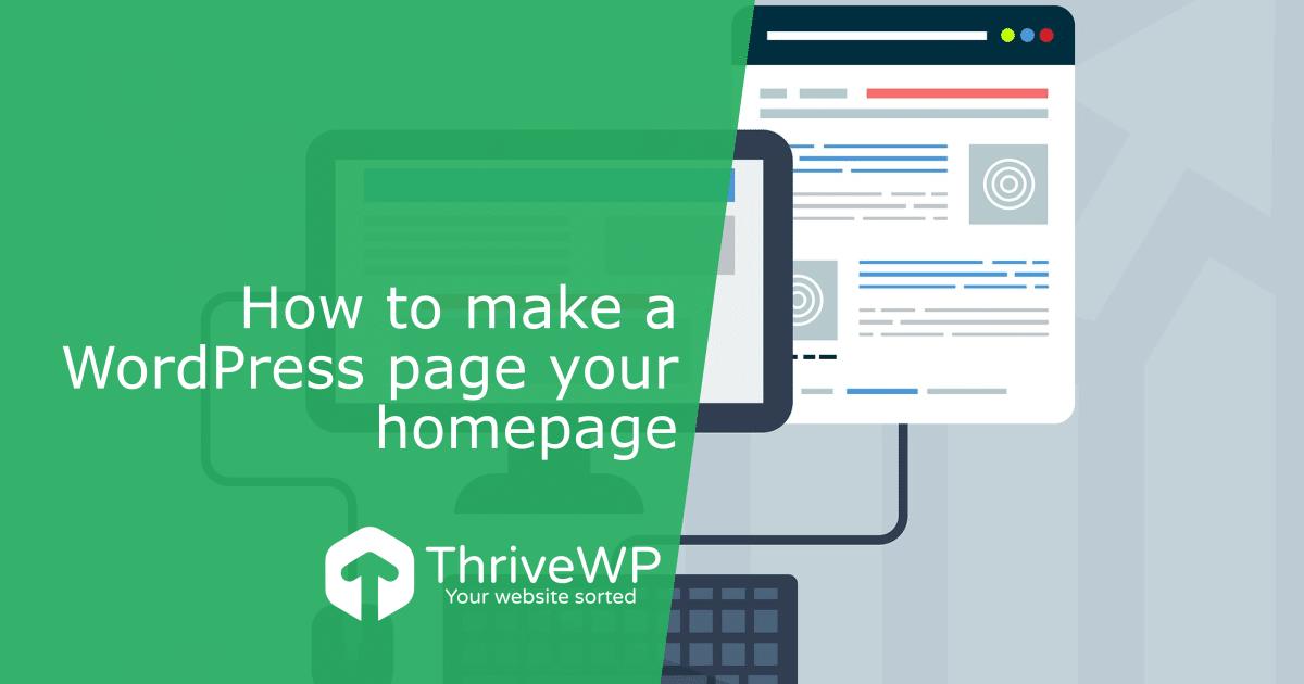 Make WordPress Page Homepage