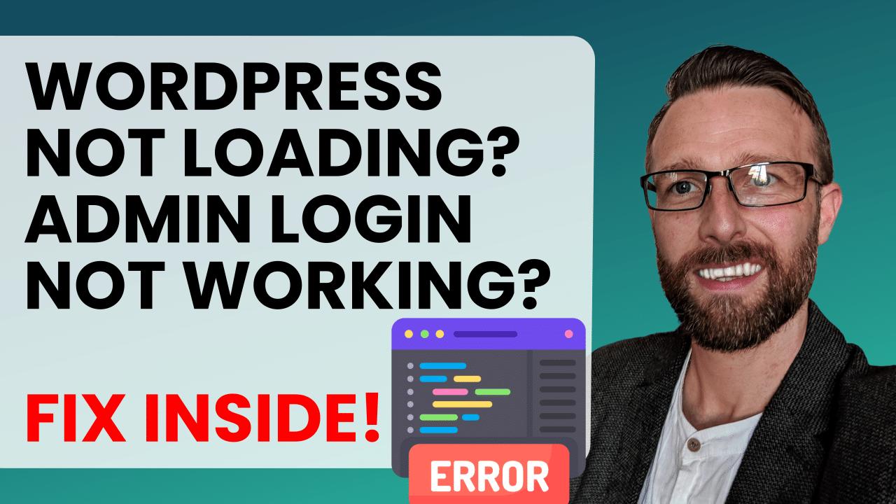 WordPress Website Management WordPress Admin Not Working