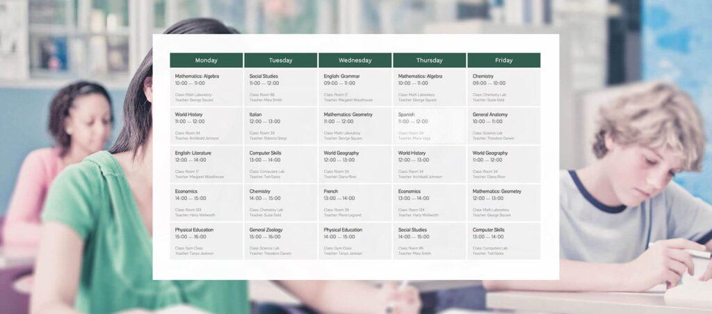 Events Schedual