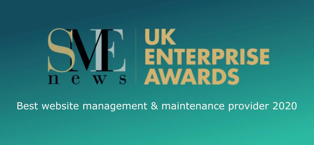 WordPress Maintenance Services UK SME AWARDS